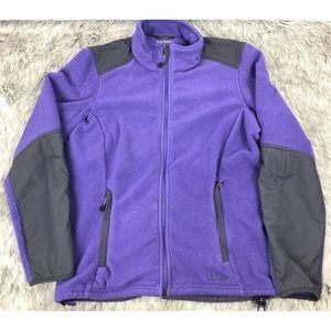 LL Bean Womens Fleece Long Sleeve Full Zip